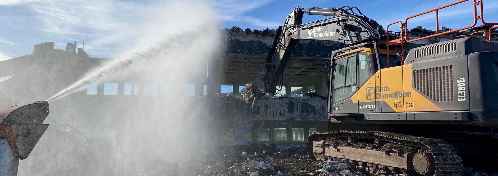 Site Clearance is part of the Demolition Process carried out by the team at Bath Demolition. From Site preparation, to demolition and site clearance, Bath Demo can help