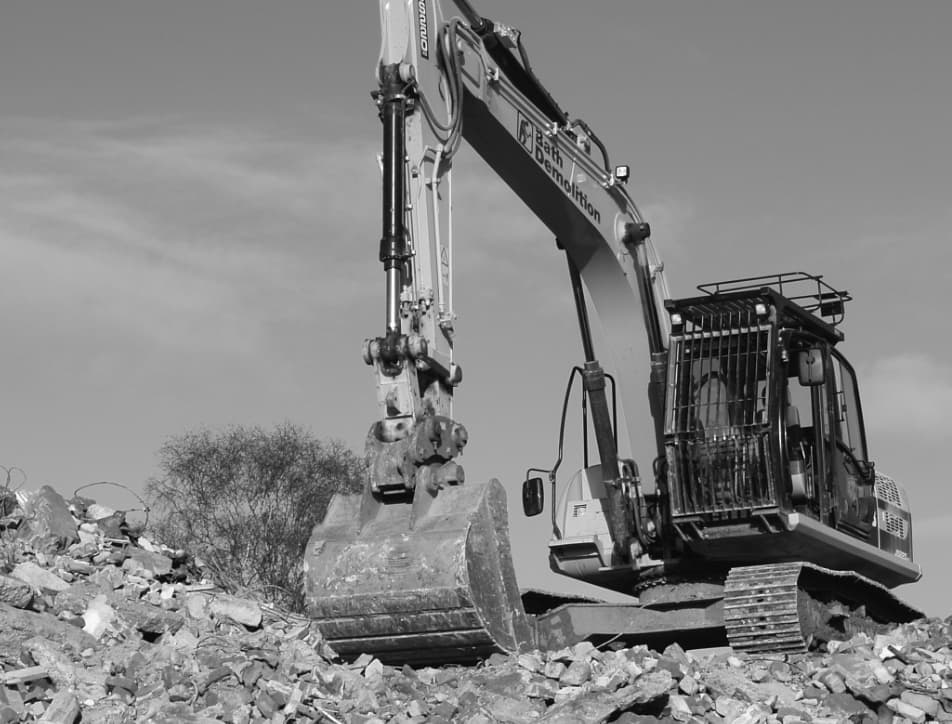 Black and white digger