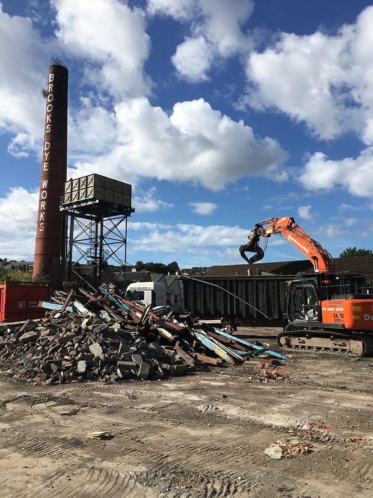 Brooks Laundry Demolition Process