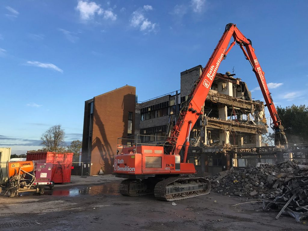 Southmead Hospital Demolition Process