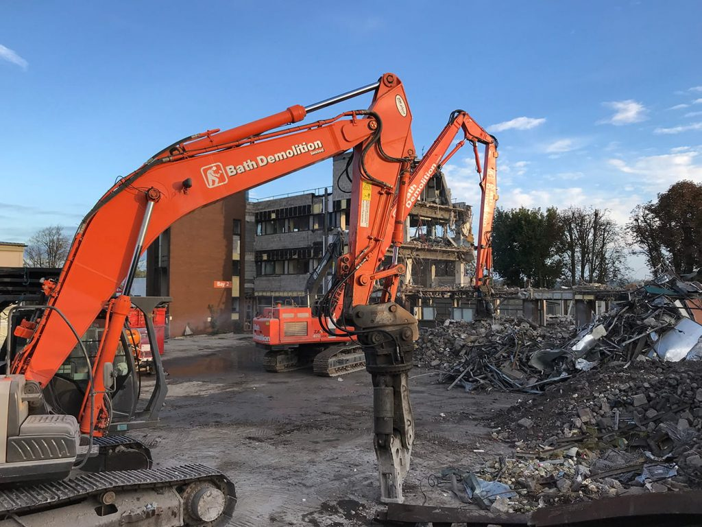 Southmead Hospital Demolition Process
